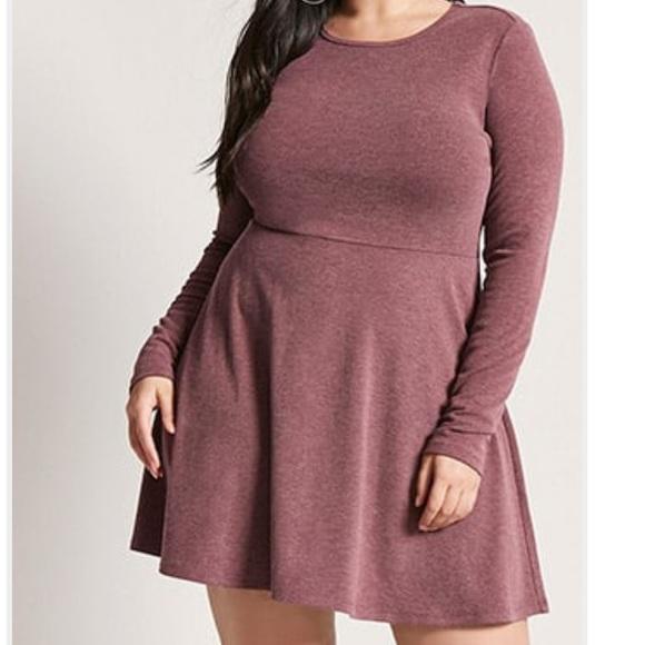 Forever 21 Dresses & Skirts - Plus Size Skater Dress Long Sleeve